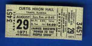 James Brown Concert Ticket